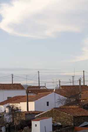 View of a typical small village in the interior of Algarve, Portugal. photo