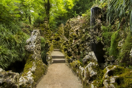 quinta: View of a section of the beautiful park called, Quinta da Regaleira, located in Sintra, Portugal.