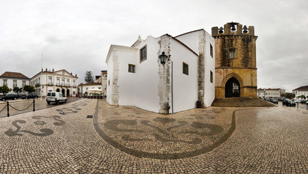 se: View of historical Church of Se located in Faro, Portugal. Stock Photo