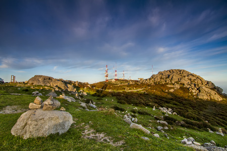 beautiful location: Beautiful location view of the tallest mountain on the Algarve region, located on Monchique, Portugal. Stock Photo