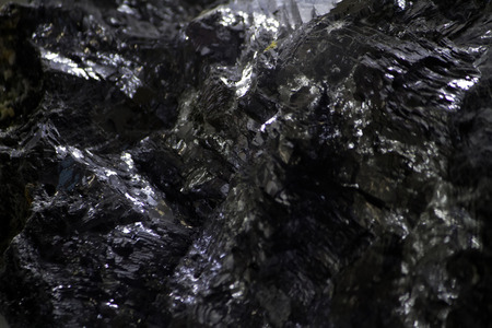 sulfide: Close up view of a Galena mineral. Stock Photo