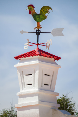 View of the traditional and beautiful chimneys of portuguese architecture. photo