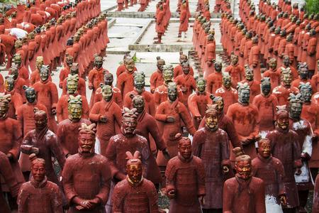qin: View of replica statues located in Buddha Eden park, Bombarral, Portugal Editorial