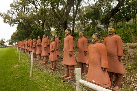 qin: View of replica statues located in Buddha Eden park, Bombarral, Portugal.