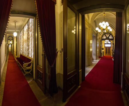 Innenansicht Eines Der Schönen Zimmer Von Ajuda Palast Befindet Sich ...