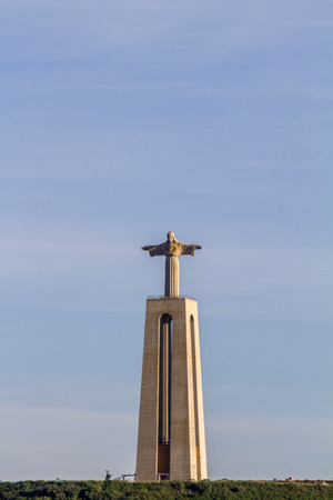 rei: View of the famous landmark, Cristo Rei (Christ the King), located in Almada, Portugal.