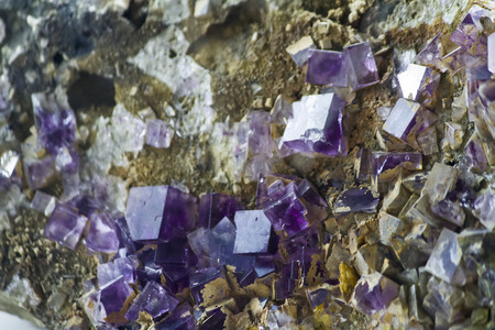fluorite: Close up view of Fluorite mineral. Stock Photo