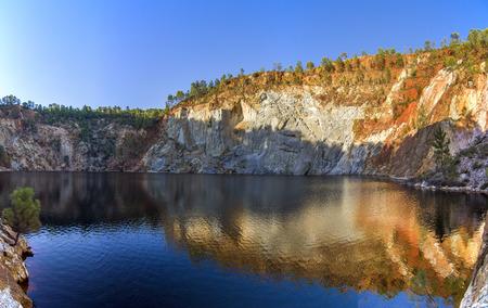 acidic: Beautiful view of a mining acidic lake located in Rio Tinto, Spain.
