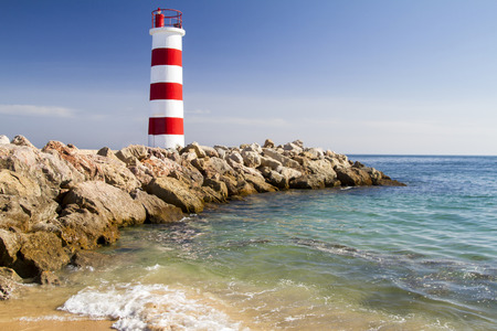 ria: View of the beautiful island of Farol located in the Algarve, Portugal.