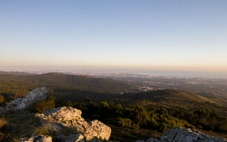 at the highest: Highest viewpoint of Sintra region located in Portugal.