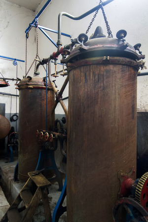 distillation: Old distillation tanks for aguardiente (alcoholic beverage) production.