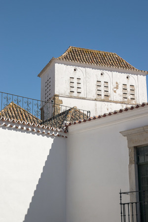 region of algarve: Close up view of typical architecture of Algarve region in Portugal.