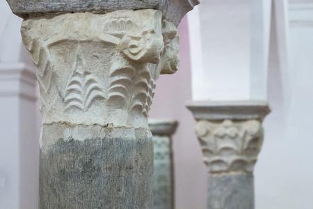 artefacts: BEJA, PORTUGAL - APRIL 2015: Visigod artefacts inside the regional museum of Beja city, Portugal.