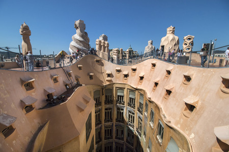 antoni: BARCELONA, SPAIN - 23rd MAY, 2015: Interior details of the famous Casa La Pedrera, from modernism architect Antoni Gaudi located in Barcelona, Spain. Editorial