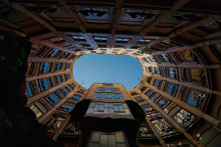 modernism: BARCELONA, SPAIN - 23rd MAY, 2015: Interior details of the famous Casa La Pedrera, from modernism architect Antoni Gaudi located in Barcelona, Spain. Editorial