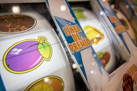 Close up view of a casino slot machine . Reklamní fotografie