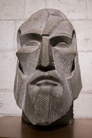 antoni: Close detail of the bust of Antoni Gaudi, famous architect from Barcelona, Spain. Editorial