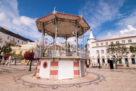 manuel: View of the beautiful bandstand located in the Garden Manuel Bivar, in Faro, Portugal.