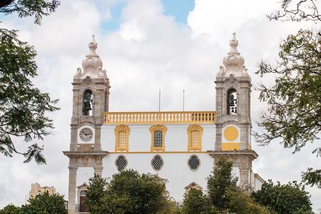 carmo: View of the landmark church of Carmo located in Faro, Portugal.
