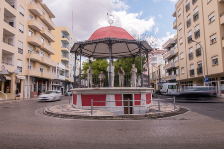 bandstand: View of the beautiful bandstand located in Loule city, Portugal. Stock Photo