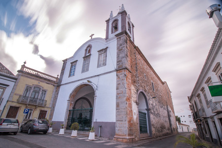 senhora: View of the church of Nossa Senhora da Ajuda located in Tavira, Portugal.