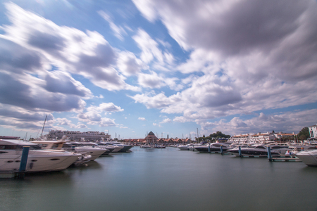 vilamoura: Wide view of the marina of Vilamoura, located in Portugal.