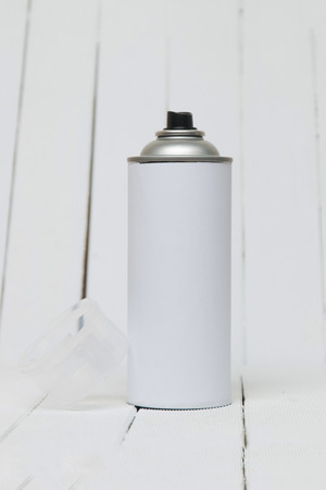 Close up view of an air pressured can blank isolated on a white background. Stock Photo