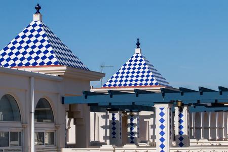 touristic: Commercial and touristic plaza in Isla del Moral, Spain.