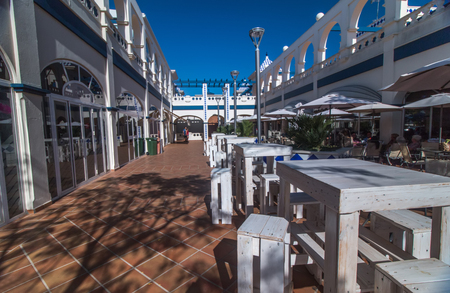 isla: Commercial and touristic plaza in Isla del Moral, Spain.