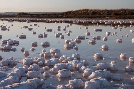 evaporacion: Saline evaporation ponds near Isla Cristina, Spain.