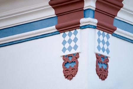 region of algarve: Typical colorful facade of buildings from the Algarve region.