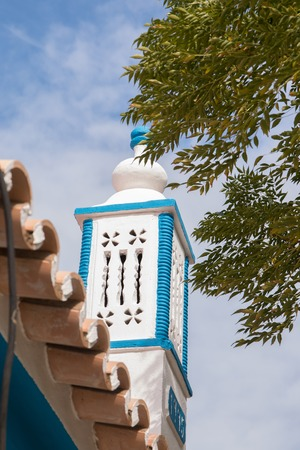 algarve: Typical Portuguese chimney design architecture from the Algarve region.