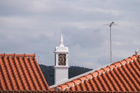 region of algarve: Typical Portuguese chimney design architecture from the Algarve region.