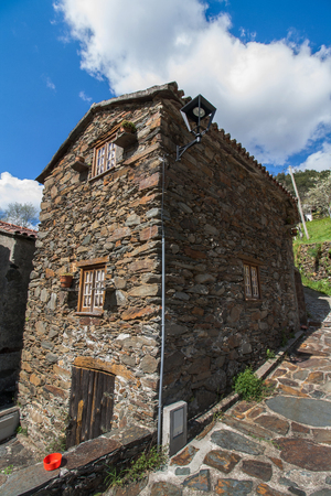 Typical schist home located in the region of Lousa, Portugal. Stock Photo