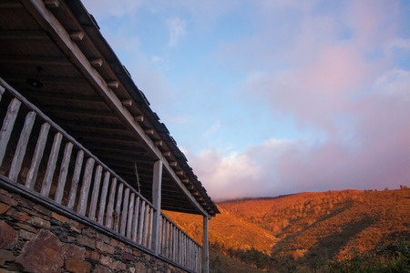 Typical schist homes located in the region of Lousa, Portugal.