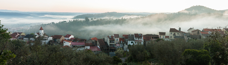casal: View of Casal Sao Jose village in the morning near Arganil, Portugal.