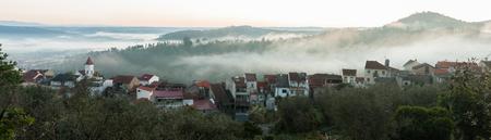 casal: View of Casal Sao Jose village in the morning near Arganil, Portugal.