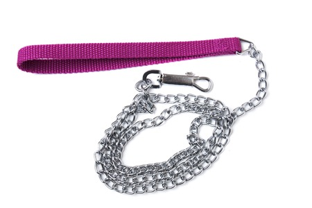 View of a dog chain object isolated on a white background.