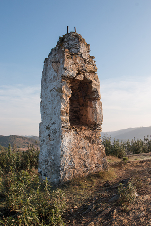broken hill: old abandoned ruin on top of a hill