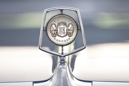 FARO, PORTUGAL - AUGUST 27, 2016: Close up view of the Chrysler car brand logo.
