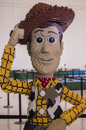 entertainment center: PORTIMAO, PORTUGAL -  28th August, 2016: 2nd Portimao Arena Fun Brick, a fun Lego exhibition where people can show their collections, play and buy Lego merchandise.