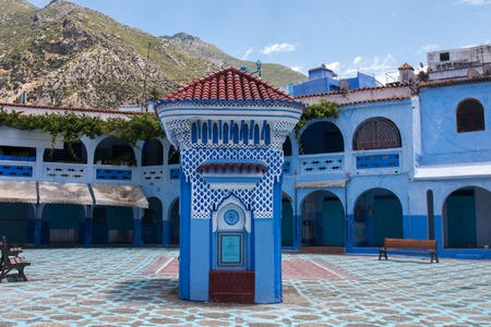 View of the blue city of Chefchaouen located in Morocco, Africa. Stock Photo