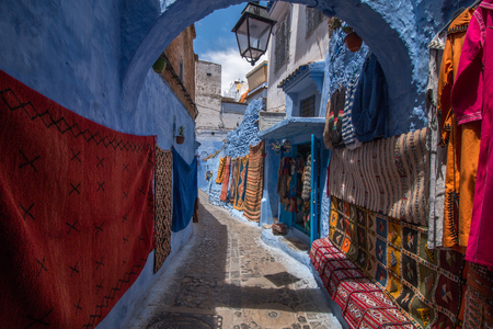 View of the blue city of Chefchaouen located in Morocco, Africa. Editorial