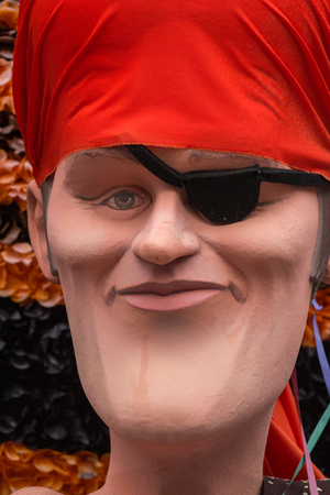 allegoric: LOULE, PORTUGAL - FEB 2016: Colorful Carnival (Carnaval) Parade festival puppets on Loule city, Portugal.