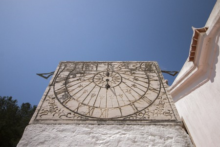 Close up view of an old sunclock.