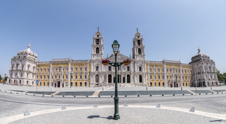 Landmark monastery in Mafra, Portugal