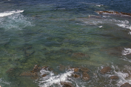 crystaline: View of the crystaline waters in the shoreline of Peniche city, Portugal.