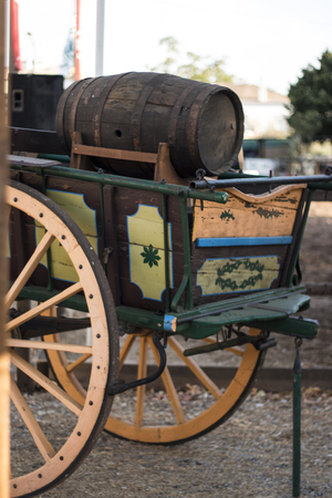 Close view of a traditional Portuguese horse cart. Stock Photo