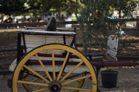horse cart: Close view of a traditional Portuguese horse cart. Stock Photo