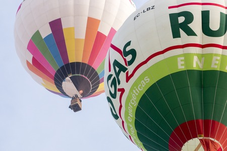 PONTE DE SOR, PORTUGAL: NOVEMBER 12th, 2016 - Ascension of hot air balloons on the 20th FIBAQ - International festival of hot air balloons in the Alentejo region, Portugal.